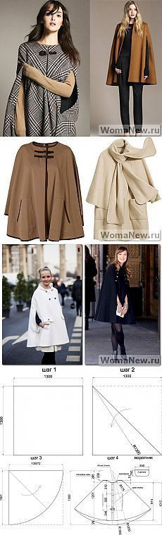Cape Pattern + MK + ideas for ponchos Diy Clothing, Sewing Clothes, Clothing Patterns, Dress Patterns, Sewing Patterns, Do It Yourself Mode, Couture Sewing, Diy Fashion, Fashion Design