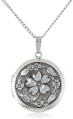 Embossed Antique-Finish Locket Necklace $53.43