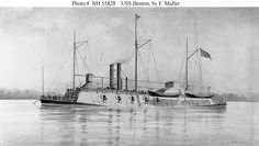 "USS Benton. A seriously impressive ship, she was built on the framework of ""Submarine One,"" a heavy riverine salvage vessel donated to the United States Army by an anti-slavery Southerner. She was huge, heavily armed and armored, and built on top of a catamaran hull that was virtually unsinkable. Unusually for a ship of her size and purpose, she was quite seaworthy."
