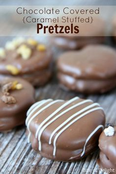 Chocolate Covered Caramel Stuffed Pretzels Recipe. Delicious and so easy!