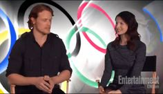 Outlander's Sam Heughan and Caitriona Balfe Talk Winter Olympic Sports!