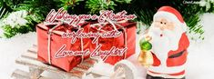 Christmas Overflowing With Love and Laughter Facebook Cover