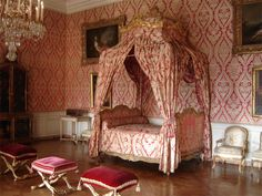 The dauphine Marie -Therese 's bed chamber. Palace of Versailles.