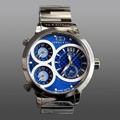 Curtis & Company BIG Time WORLD 57mm Blue Carbon Fiber Watch $2080