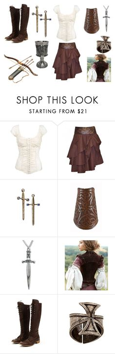 """""""Lady Archer"""" by danielleburton ❤ liked on Polyvore featuring S.W.O.R.D., DC Shoes, Monday, Charles David, Mixology NYC, history, medieval, historical and archer"""