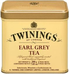 Twinings of London Earl Grey Loose Tea Tins, Ounce (Pack of Twinings Tea, Nespresso, Starbucks, Tea Party Setting, Pause Café, Cuppa Tea, 6 Pack, Musicals, Tie Dye