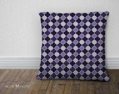 Quatrefoil Print Pillow Cover  Amethyst Purple by MotifMotifShop, $57.99