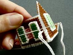 This tutorial - plastic canvas house ornamentThis tutorial might help me make my plastic canvas house ornament since there are no instructions for the ornament I picked.How to Make a Tiny Gingerbread House Ornament (from Plastic Canvas! Plastic Canvas Ornaments, Plastic Canvas Crafts, Plastic Canvas Stitches, Plastic Canvas Patterns, House Ornaments, Christmas Ornaments, Gingerbread Ornaments, Xmas, Cross Stitch House