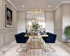 Luxury Dining Room, Dining Room Design, Luxury Living, Modern Living, Dining Rooms, Dining Tables, Small Living, Dining Area, Design Table