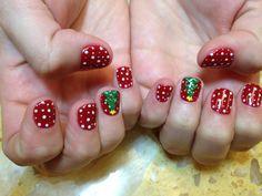 Christmas nails designs#gel polish @ Ocean Nails and Spa FWB, Fl