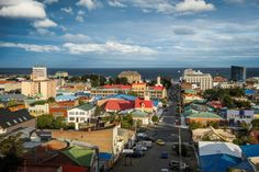 Punta Arenas – Sandy Point in English – is right at the very bottom end of Chile. It's on a bank of the Strait of Magellan, across from the Tierra del Fuego archipelago. Punta Arenas Chile, Latina, Antarctica, Archipelago, Patagonia, Mother Nature, Paris Skyline, Dolores Park, To Go