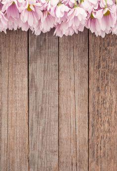 Wooden Backdrop Flower Backdrop Floral Backgrounds Wood Floor J05049 #IphoneBackgrounds