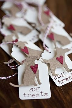 Dog Treat Valentine s Day tags gift tags dog craft Homemade Dog Treats, Pet Treats, Dog Treat Packaging, Dog Treat Bag, Dog Bag, Dog Bakery, Dog Collar Tags, Pet Dogs, Pets