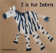 Handprint Zebra
