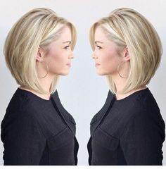 77 Trendy Bob Hairstyles For All Occasions - Page 12 of 77 - CoCohots - 77 Tren. 77 Trendy Bob Hairstyles For All Occas. Bob Hairstyles For Fine Hair, Chic Hairstyles, Hairstyles For Round Faces, Hairstyle Ideas, Medium Bob Hairstyles, Womens Bob Hairstyles, Natural Hairstyles, Short Length Hairstyles, Medium Bob Haircuts