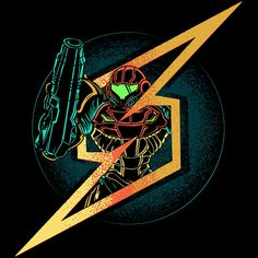 Symbol of Samus starts at $12 as Apparel, Home Decor & More this Week Only at www.onceuponatee.net | #Onceuponatee #Fashion #Apparel #TShirts #PopCulture #Art #Metroid #VideoGames #Gaming #Music #IronMaiden