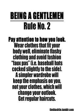 Being a Gentlemen: Rule No. 2