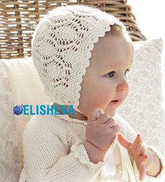 Ажурная шапочка для девочки вязаная спицами от Drops Design | Блог elisheva.ru