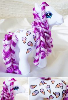 Restyled, repainted My Little Ponies :) G3 Sweet Scoops by MLPMeadows on DeviantArt