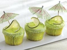 Margarita cupcakes. So festive and perfect for a Jimmy Buffet themed party!