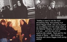 Alan Rickman and Dame Maggie Smith