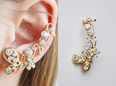 Shop put  favorites, we often have discounts and promotions! Pls, keep an eye on the store! – https://www.etsy.com/ru/shop/EarringsEarcuffs!    I make a gift with every order  :)         Any girl knows that its collection should be a variety of ornaments. This allows her to feel confident and attractive in any situation, in any manner. That is why you should pay attention to a completely unusual jewelry - earrings in the ear. Accessory in this design is charming and is non-trivial. Ornate…