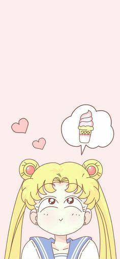 Sailor Moon + always thinking about food Sailor Moon Crystal, Sailor Moon S, Kawaii Wallpaper, Cartoon Wallpaper, Iphone Wallpaper, Wallpaper Backgrounds, Animes Wallpapers, Cute Wallpapers, Age Of Mythology