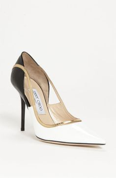 Yet another exquisite Jimmy Choo shoe!  $750  (No, I'm not kidding!)  This is the 'Vero' Pump available at Nordstrom