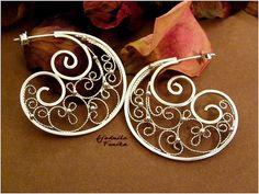 Swirls- filigree earrings