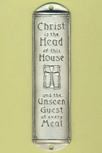 """Room Blessing """"Christ Head of House"""" $32.00 http://www.celebrateyourfaith.com/Room-Blessing-quot-Christ-Hea-P10672C725.cfm"""