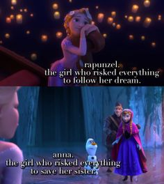 This is why they are my two favorites♥ Rapunzel and Anna all the way!