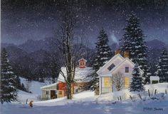 Night Run Red Fox by Fred Swan.