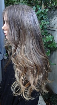 Balayage ash blonde OR brunette with ash blonde highlights