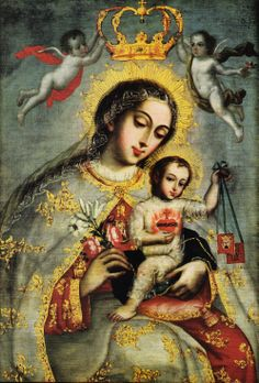 Nossa Senhora do Carmo e o Menino Jesus com o Coração