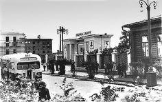Улица Ленина и новый парадный вход в Городской сад им.Ленина, 1950-е Arrow Of Time, Times Square, Street View, Travel, Outdoor, Outdoors, Viajes, Destinations, Traveling