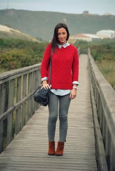 Red Sweater by followmearoundmode
