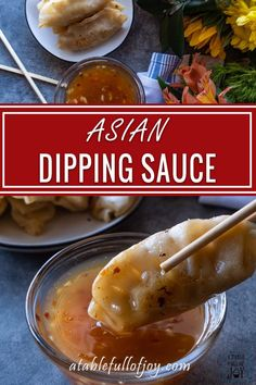 Asian Dipping Sauce sweet spicy and perfect for all your dipping needs! Whether you are dipping chicken dumplings or even meatballs this Asian dipping sauce is what you need! Potsticker Dipping Sauce, Dumpling Dipping Sauce, Dipping Sauces For Chicken, Sauce For Chicken, Asian Dipping Sauces, Asian Dip Recipe, Orange Sauce Recipe, Asian Recipes, Asian Desserts