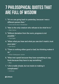 Life That You Should Always Remind Yourself These philosophical quotes will give you ideas about the philosophy of life. Wisdom of all time!These philosophical quotes will give you ideas about the philosophy of life. Wisdom of all time! The Words, Positive Quotes, Motivational Quotes, Inspirational Quotes, Vie Motivation, Business Motivation, Business Quotes, Good Advice, Words Quotes