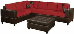 Sofas Couches-Home Kitchen : Bobkona Trenton 2 Piece Sectional Sofas Couches.Item may ship in more than one box and may arrive separatelyStylish 2 Piece Trenton sectional sofa available in 2 Piece Sectional Sofa, Sofa Couch, Sleeper Sofa, Sofa Set, Couches, Leather Sectional, Recliner, Red Living Room Decor, Living Room Furniture