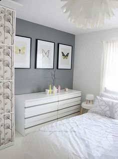 Beautiful Grey Upholstered Bed Decor Color Schemes_8