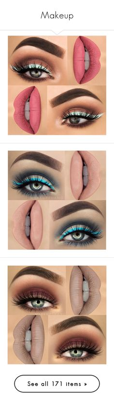 """Makeup"" by mildabas ❤ liked on Polyvore featuring make, beauty products, makeup, lip makeup, eyes, lips, mosca, jewelry, earrings and lipstick"