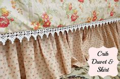 Crib Skirt Tutorial (sewing project)