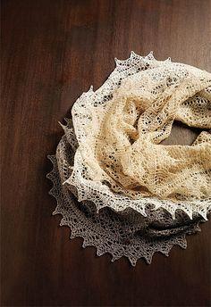 Ravelry: Silk-Blend Lace Cowls pattern by Inna Voltchkova