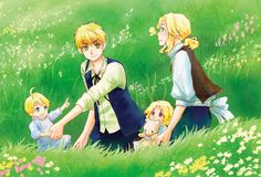 On A Spring Day by MM-MB  - Hetalia FACE - France / America / Canada / England