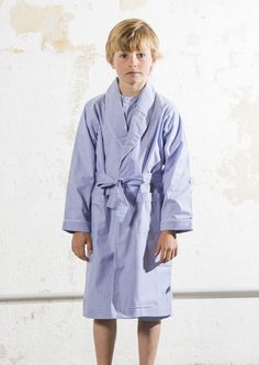 An all time classic! A very comfy and soft dressing gown with light blue pinstripes that your kids will be waiting for night time to wear it…! #lettsdream #dressingown #sleepwear #pinstripes