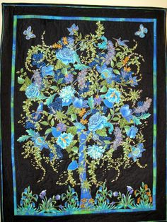Wall Art Quilt Tree of Life by KellettKreations on Etsy, $49.00