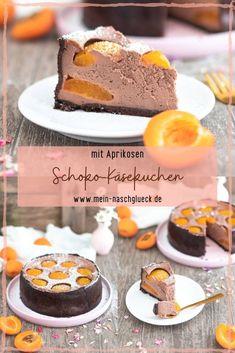 Hier findest du ein schnelles Rezept für einen wunderbar cremigen Schoko-Käsekuchen mit Aprikosen #käsekuchen #cheesecake