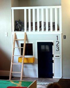Com os devidos cuidados ao subir a escada é uma ótima ideia para o cantinho divertido dos pequenos.  #inspiração Pinterest:  http://ift.tt/1Yn40ab http://ift.tt/1oztIs0 |Imagem não autoral|