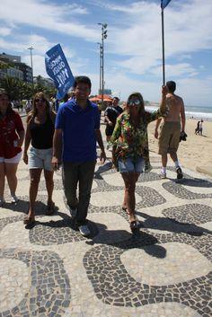 Caminhada na Praia de Ipanema