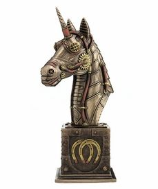 Bronze Steampunk Unicorn Bust Sculpture